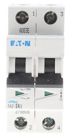 Eaton xEffect 4 A MCB Mini Circuit Breaker, 2P<BR/> Curve S