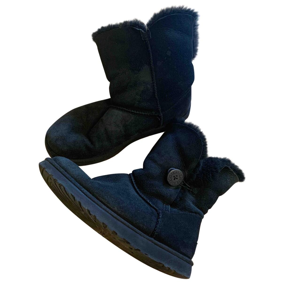 Ugg \N Black Fur Boots for Women 41 EU