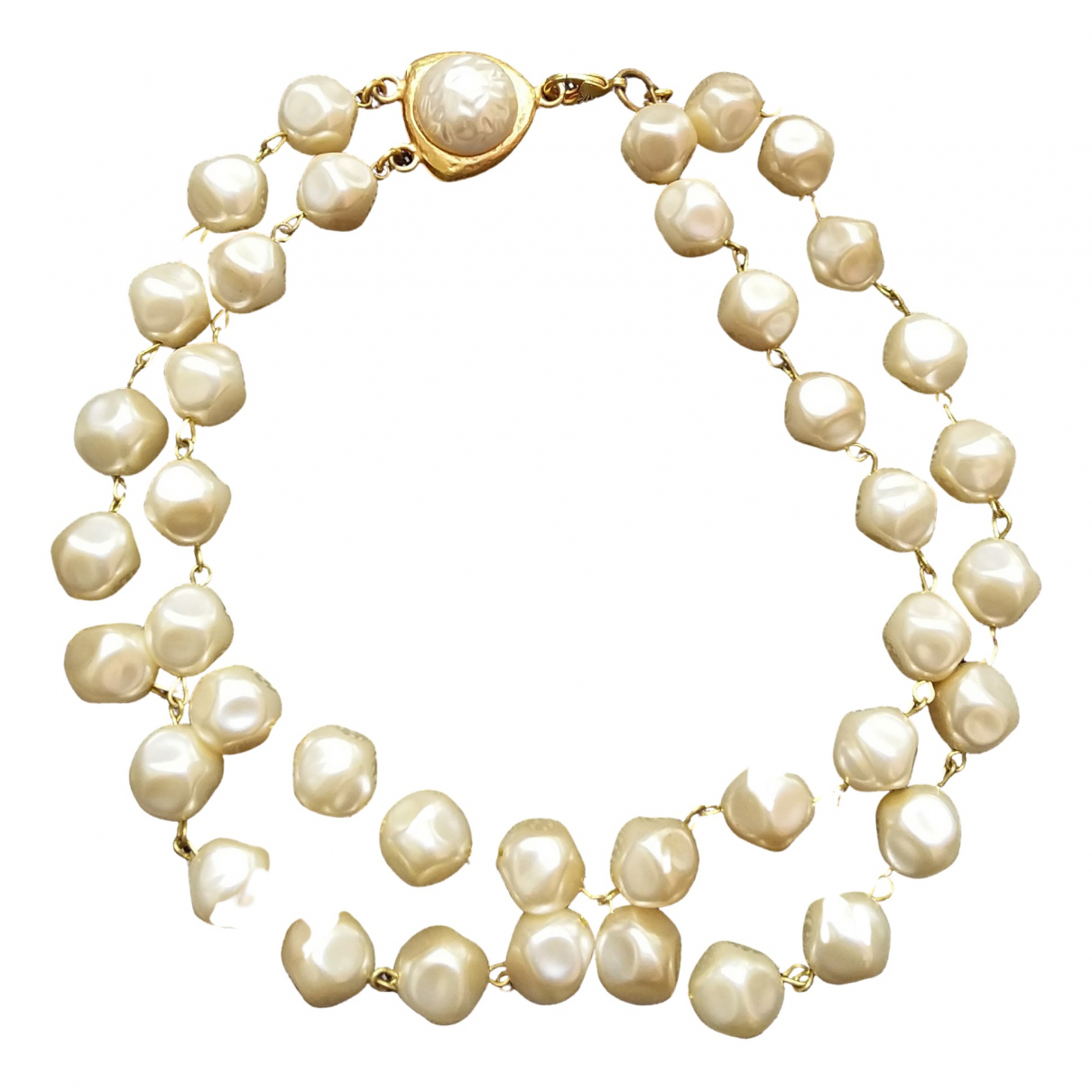 Non Signe / Unsigned \N Kette in  Gold Perle