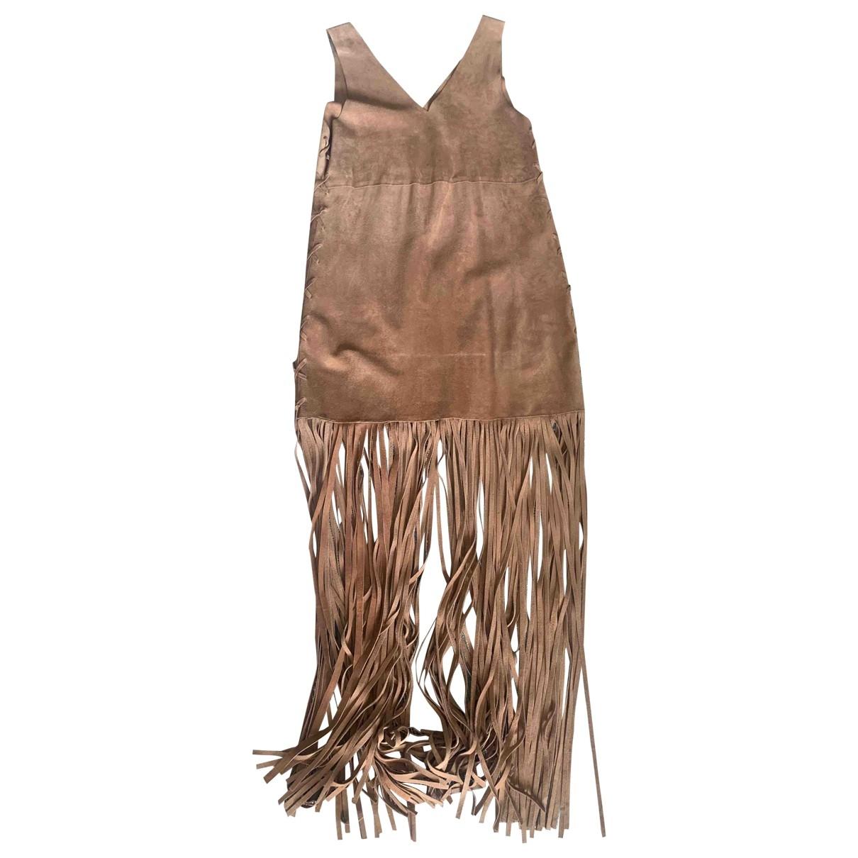 Parosh \N Kleid in  Kamel Veloursleder