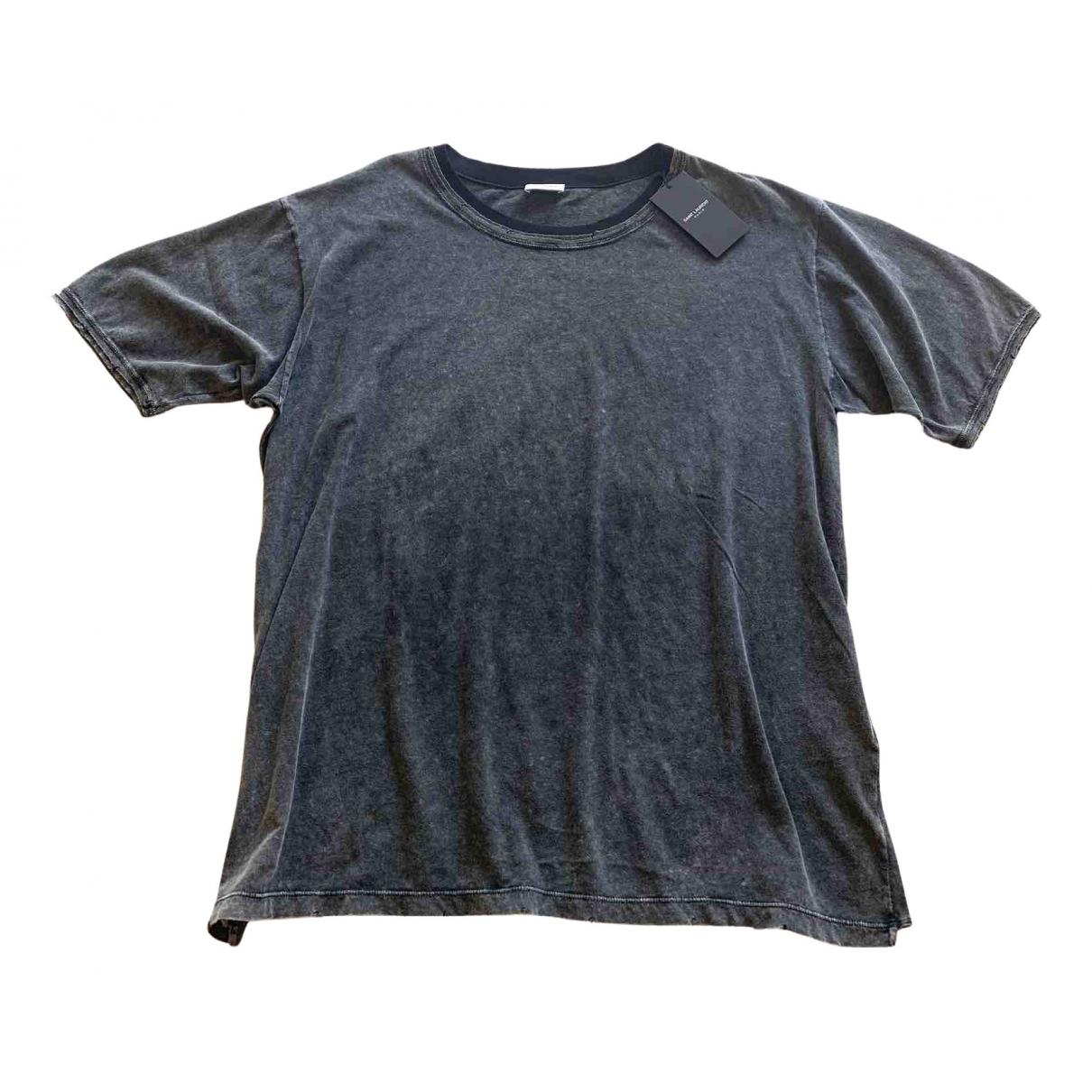 Saint Laurent - Tee shirts   pour homme en coton - anthracite