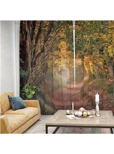 3D Printed Waterproof Scenery Woods and Trails Curtain