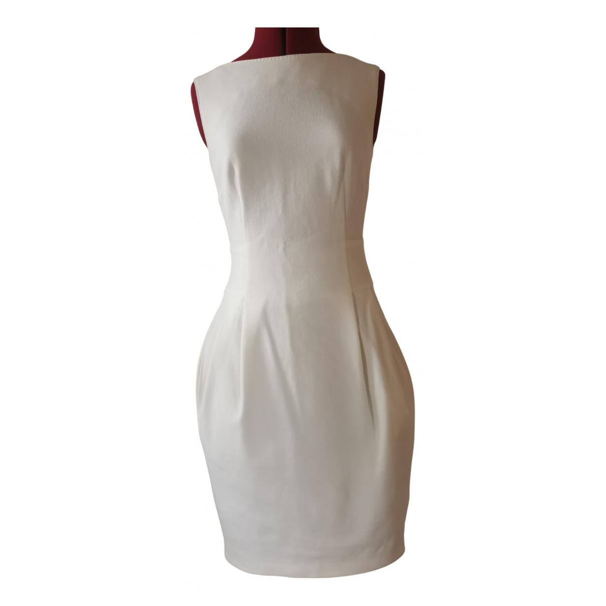 Talbot Runhof N White Cotton - elasthane dress for Women 36 FR