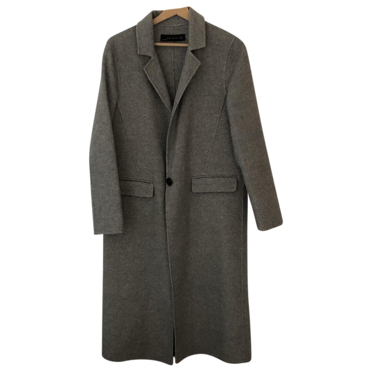 Zara N Grey Wool coat for Women S International