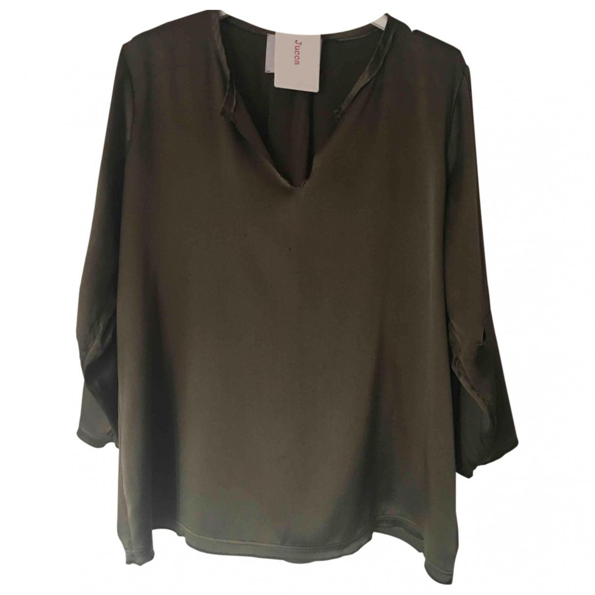Jucca \N Khaki Silk  top for Women 42 IT