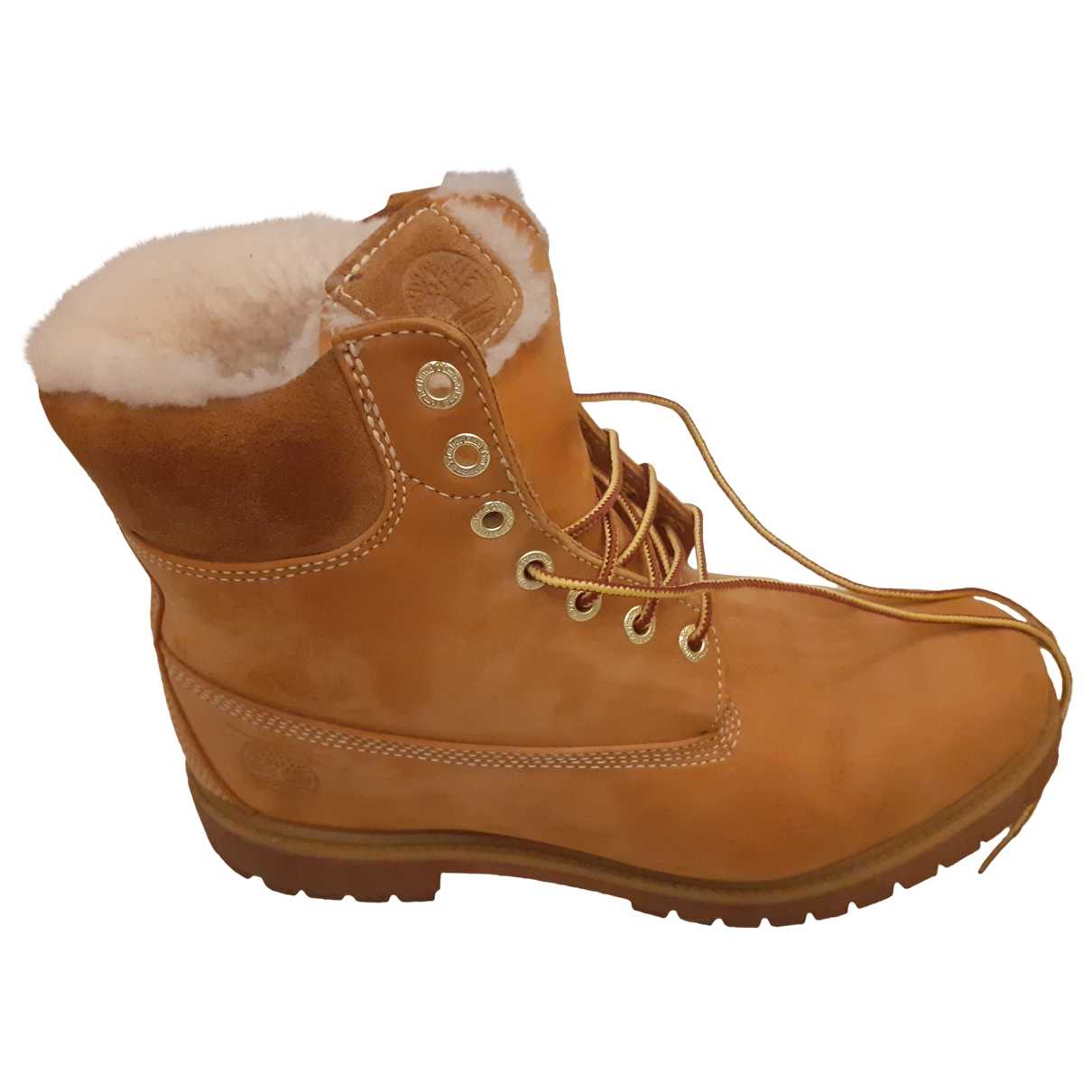 Timberland \N Stiefel in  Orange Leder