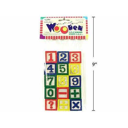 Number Wooden Block 15 Pieces