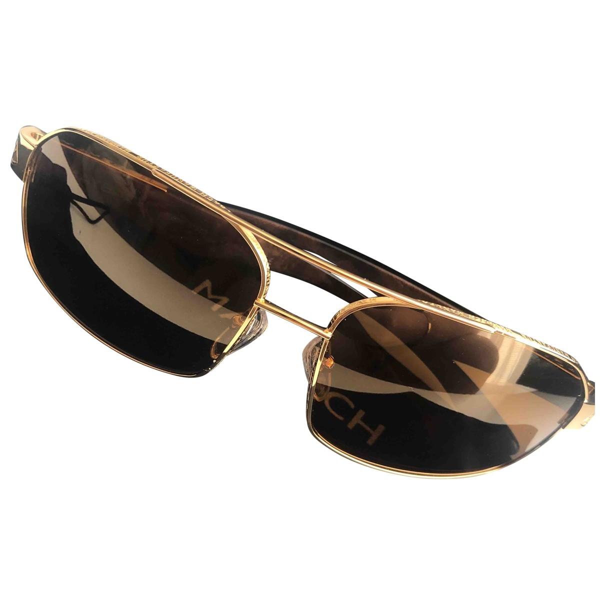 Non Signe / Unsigned \N Sonnenbrillen in  Gold Metall