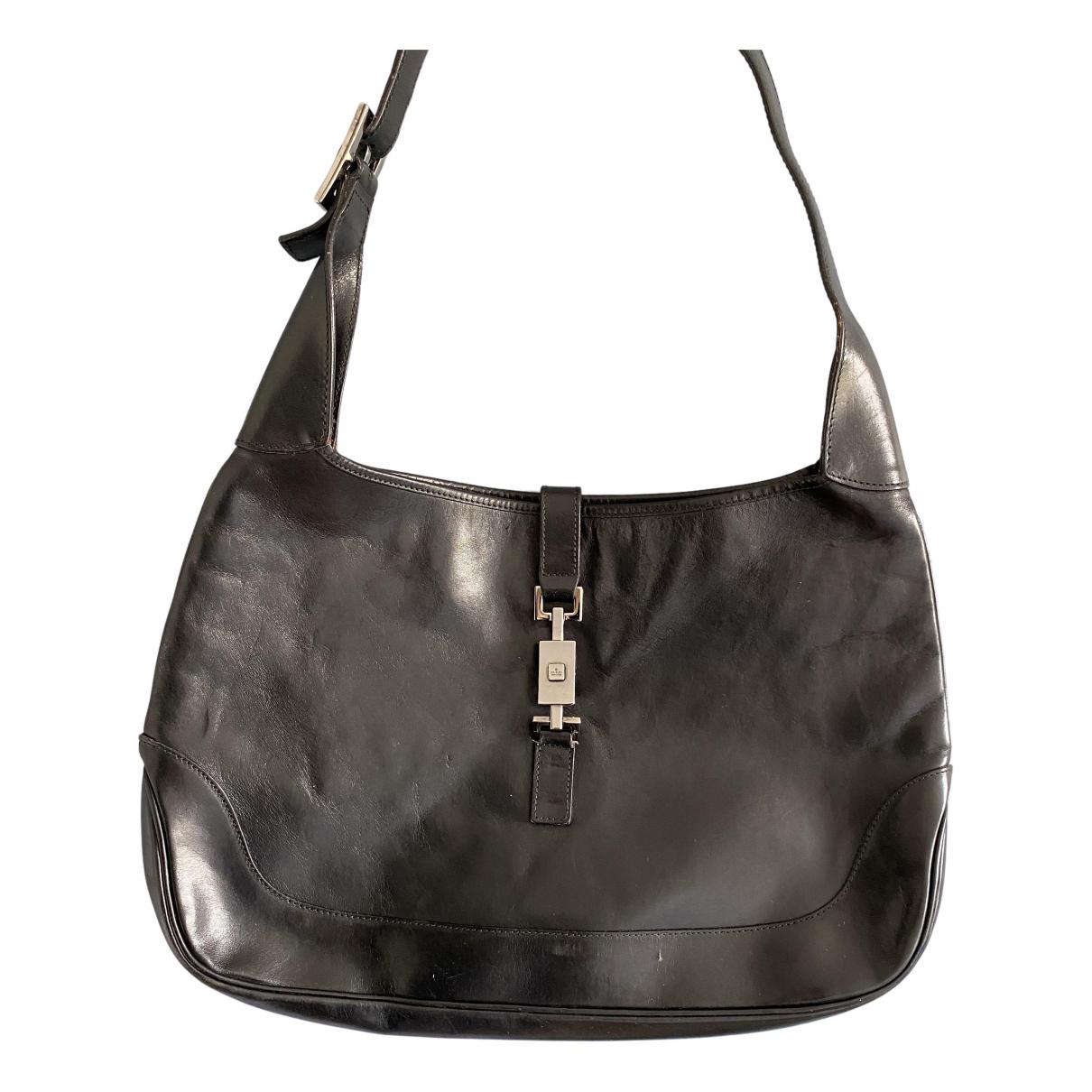 Gucci Jackie Vintage  Black Leather handbag for Women \N