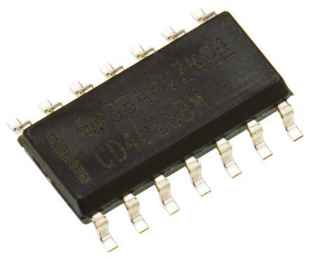 Texas Instruments CD4013BM Dual D Type Flip Flop IC, 14-Pin SOIC (50)