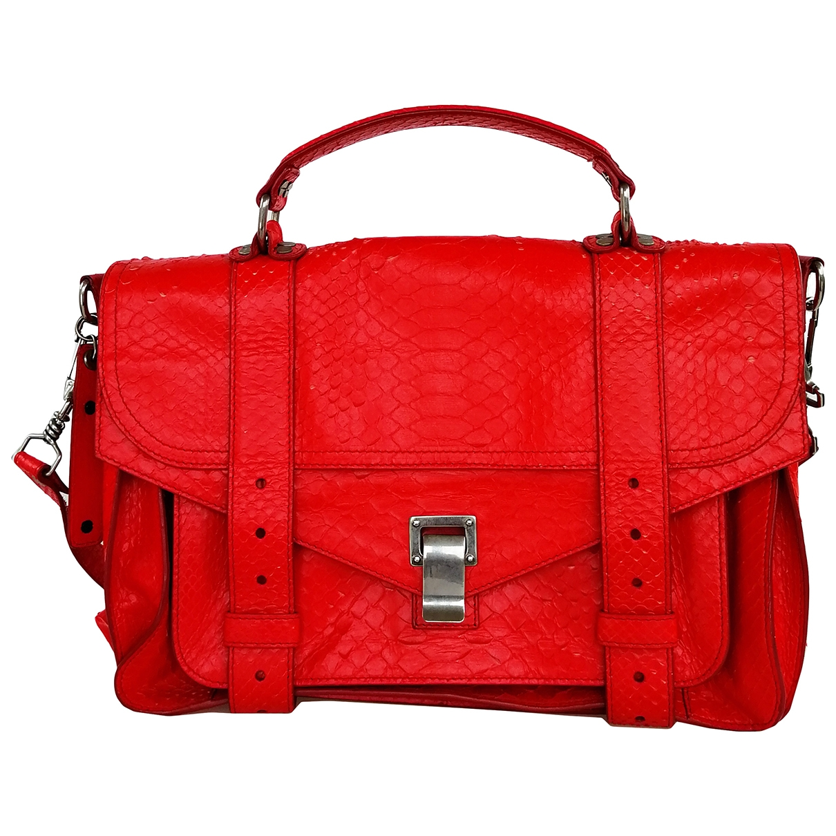 Proenza Schouler PS1 Handtasche in  Rot Python