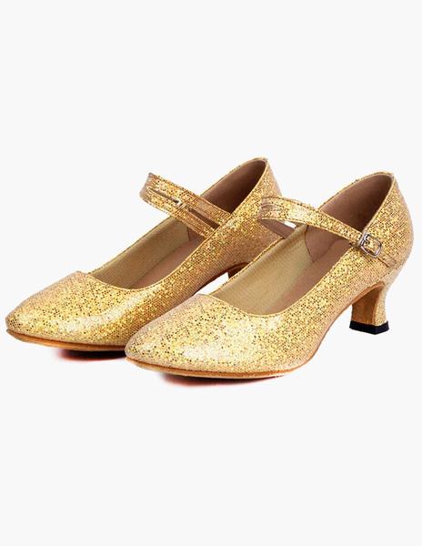 Milanoo Zapatos con lentejuelas de salon de baile 2020 Zapatos puntiagudos Zapatos de baile latino