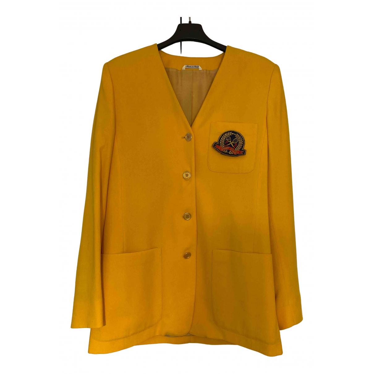 - Veste Oversize pour femme en laine - jaune