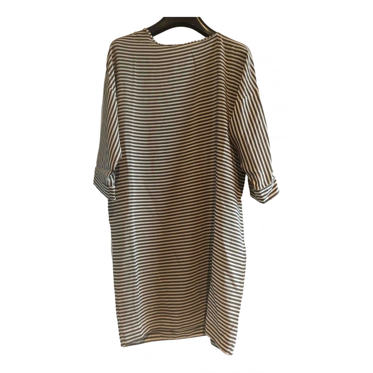 Non Signé / Unsigned N Khaki Silk dress for Women 40 IT