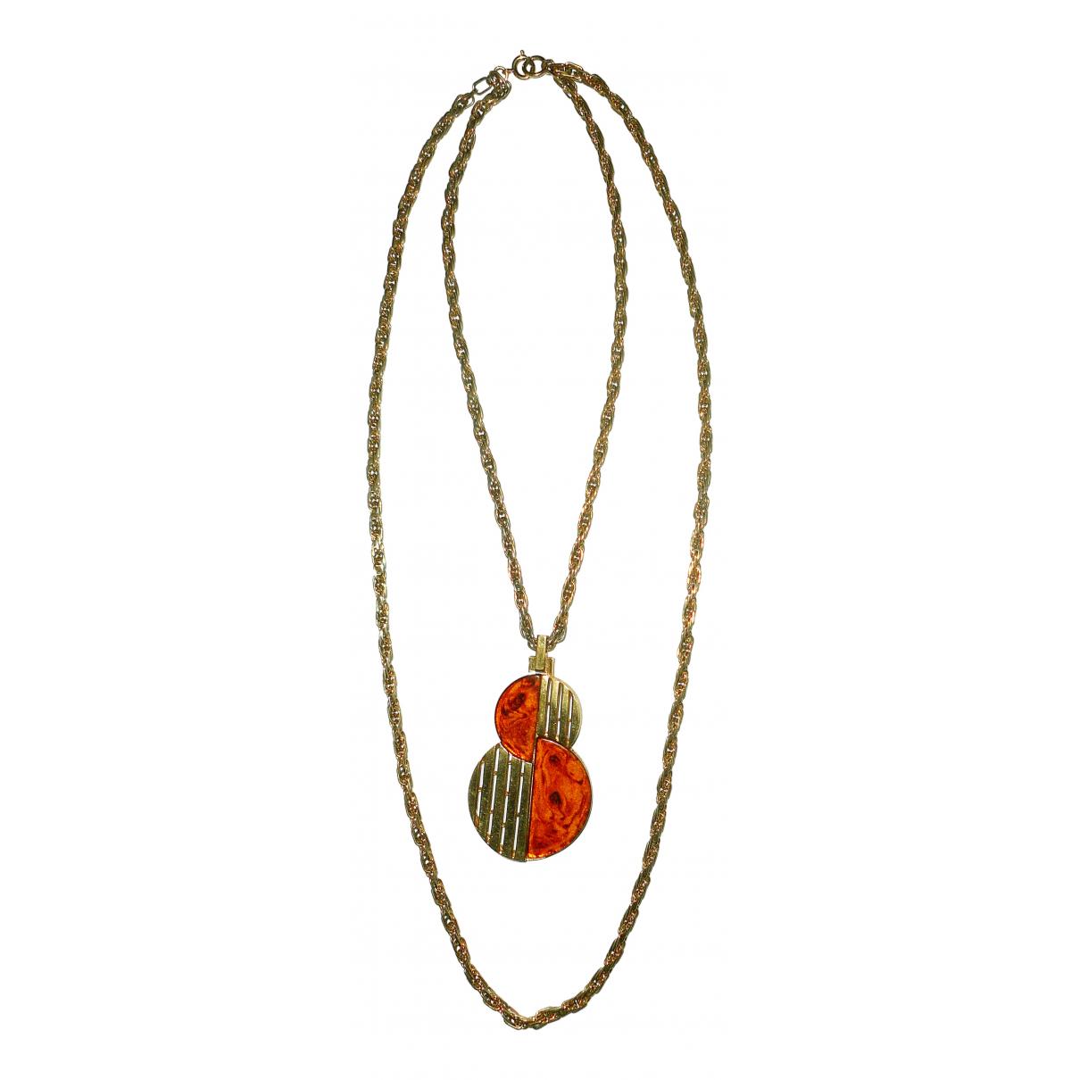 Trifari N Gold Metal Long necklace for Women N