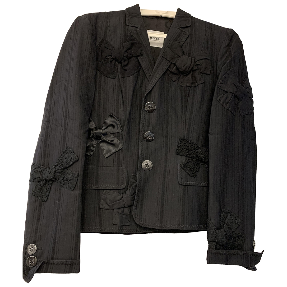 Moschino Cheap And Chic \N Black Cotton jacket for Women 42 IT