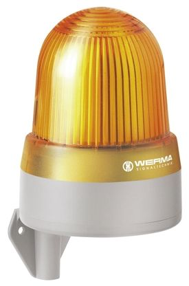 Werma 433 Sounder Beacon 112dB, Yellow LED, 115 → 230 V ac