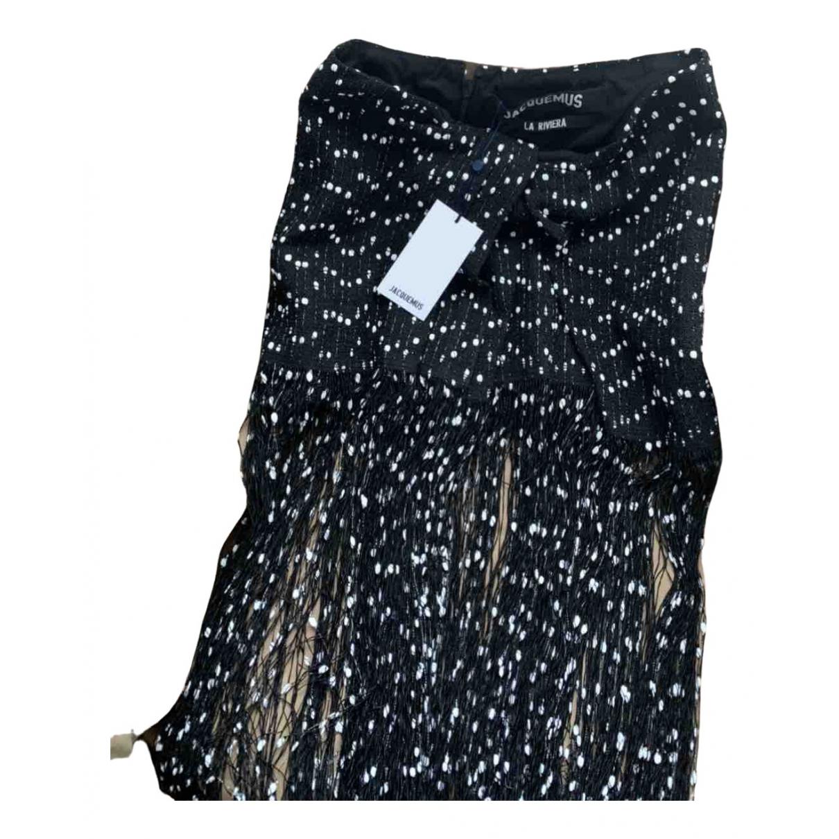 Jacquemus - Jupe La Riviera pour femme en coton - noir