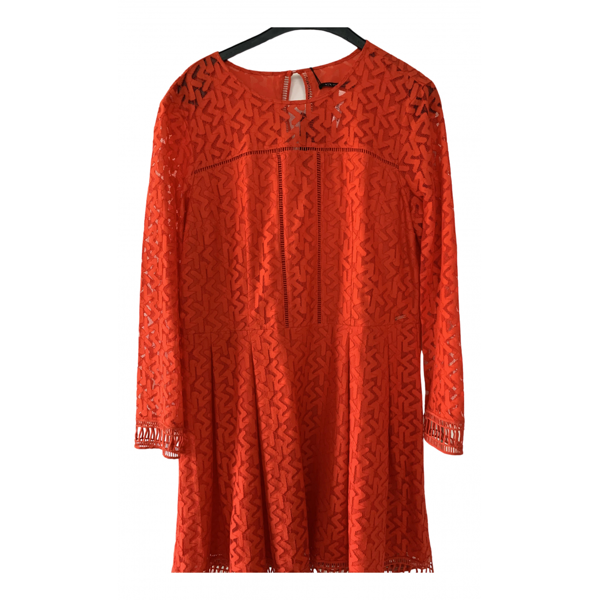 Emporio Armani \N Red Cotton dress for Women 12 UK