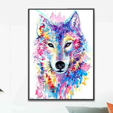 DIY Diamantmalerei mit Wolf Muster ohne Rahmen