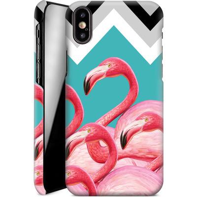 Apple iPhone X Smartphone Huelle - Flamingo Pattern von Mark Ashkenazi