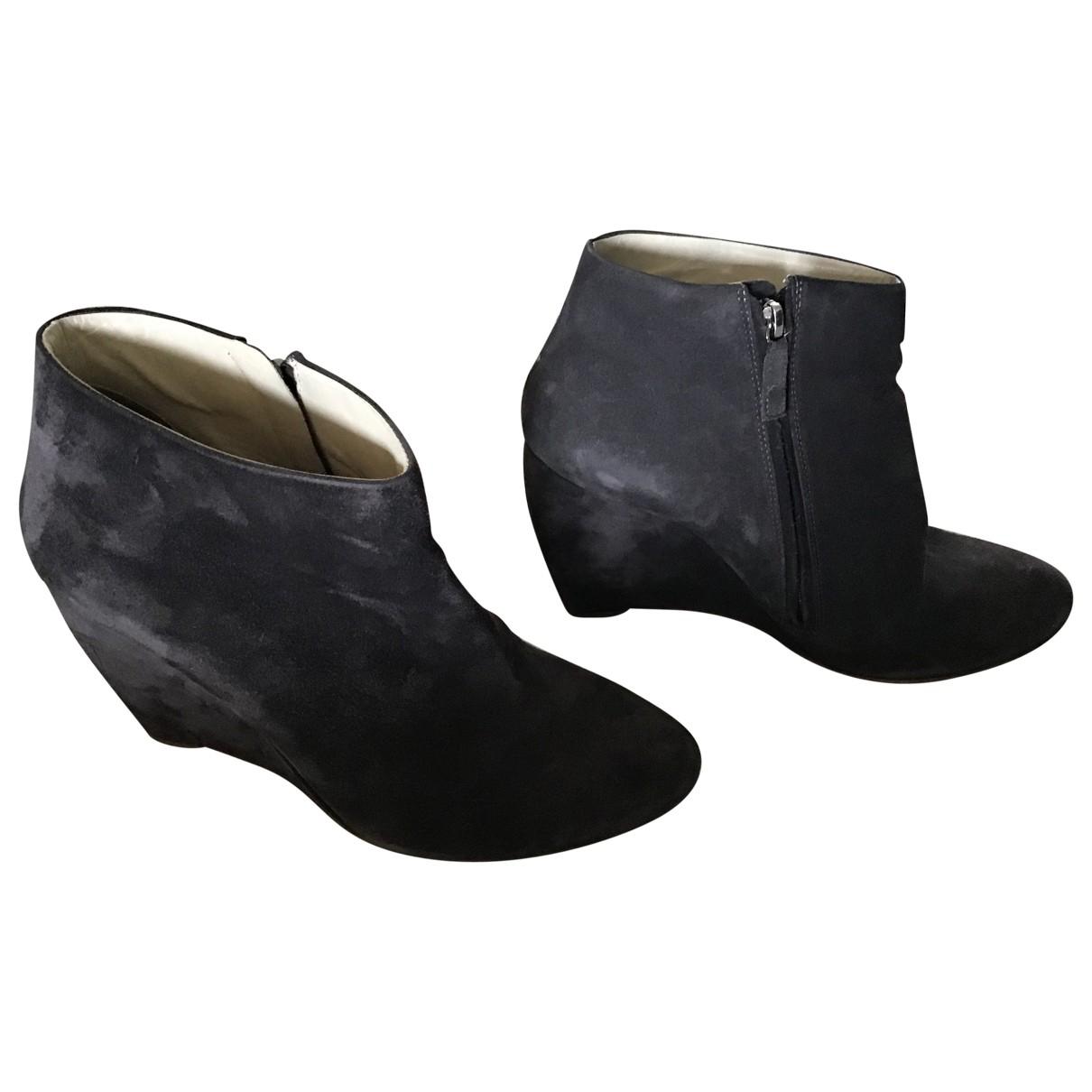 Rupert Sanderson N Grey Suede Ankle boots for Women 41 EU