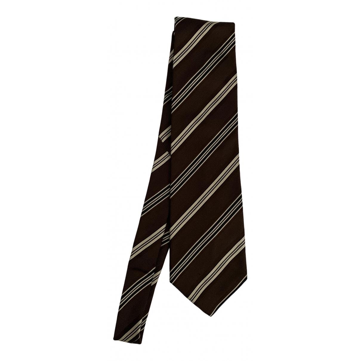 Pal Zileri \N Krawatten in  Braun Seide