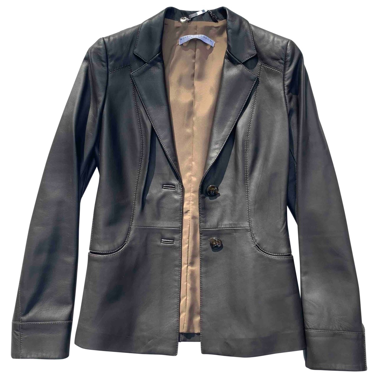 Non Signé / Unsigned \N Brown Leather jacket for Women 38 IT
