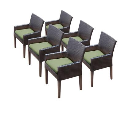 TKC097b-DC-3x-C-CILANTRO 6 Napa Dining Chairs With Arms with 2 Covers: Wheat and