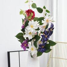 1bundle kuenstliche Blume mit 3 Stueck Kopf