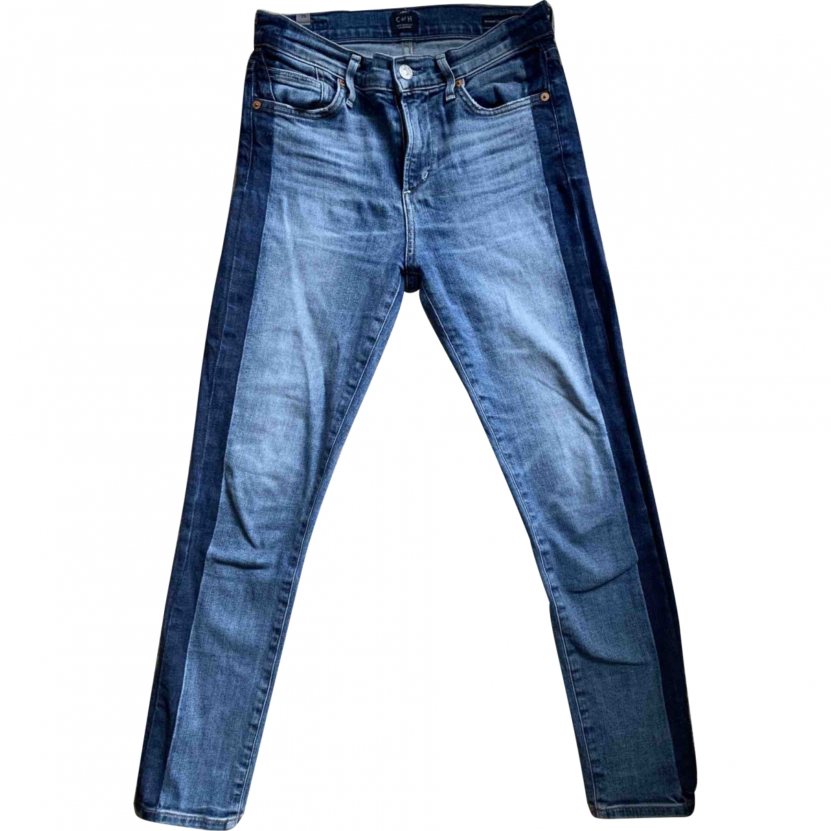 Citizens Of Humanity \N Blue Cotton - elasthane Jeans for Women 25 US