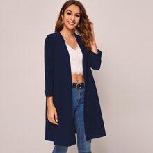 Mantel mit offener Vorderseite und Taschen Detail