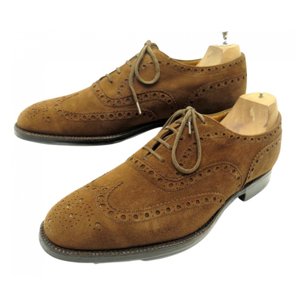Churchs - Derbies   pour homme en suede - marron