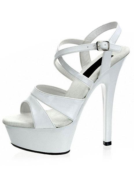 Milanoo Zapatos de plataforma alta negro sandalias Sexy Criss-Cross