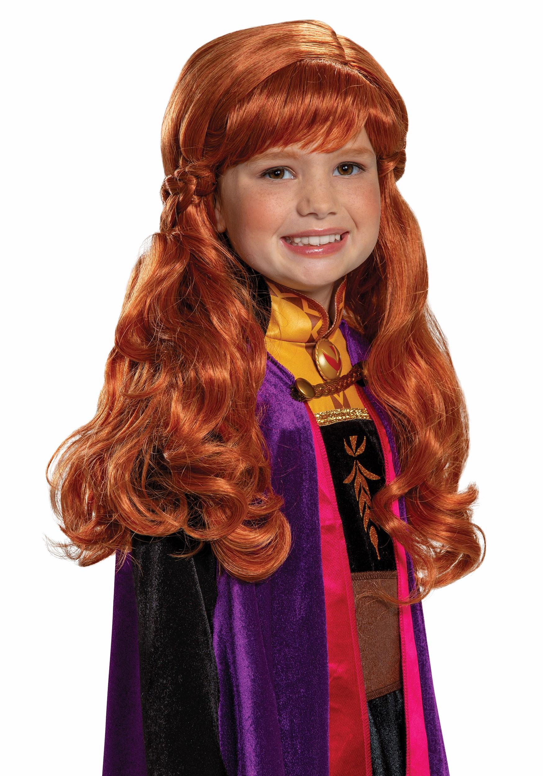 Frozen 2 Anna Wig for Girls