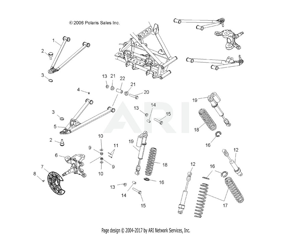 Polaris OEM 5135270 Shaft, A-Arm