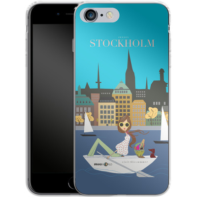 Apple iPhone 6s Plus Silikon Handyhuelle - STOCKHOLM TRAVEL POSTER von IRMA
