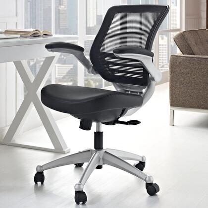 EEI-597-BLK Edge Leather Office Chair in Black