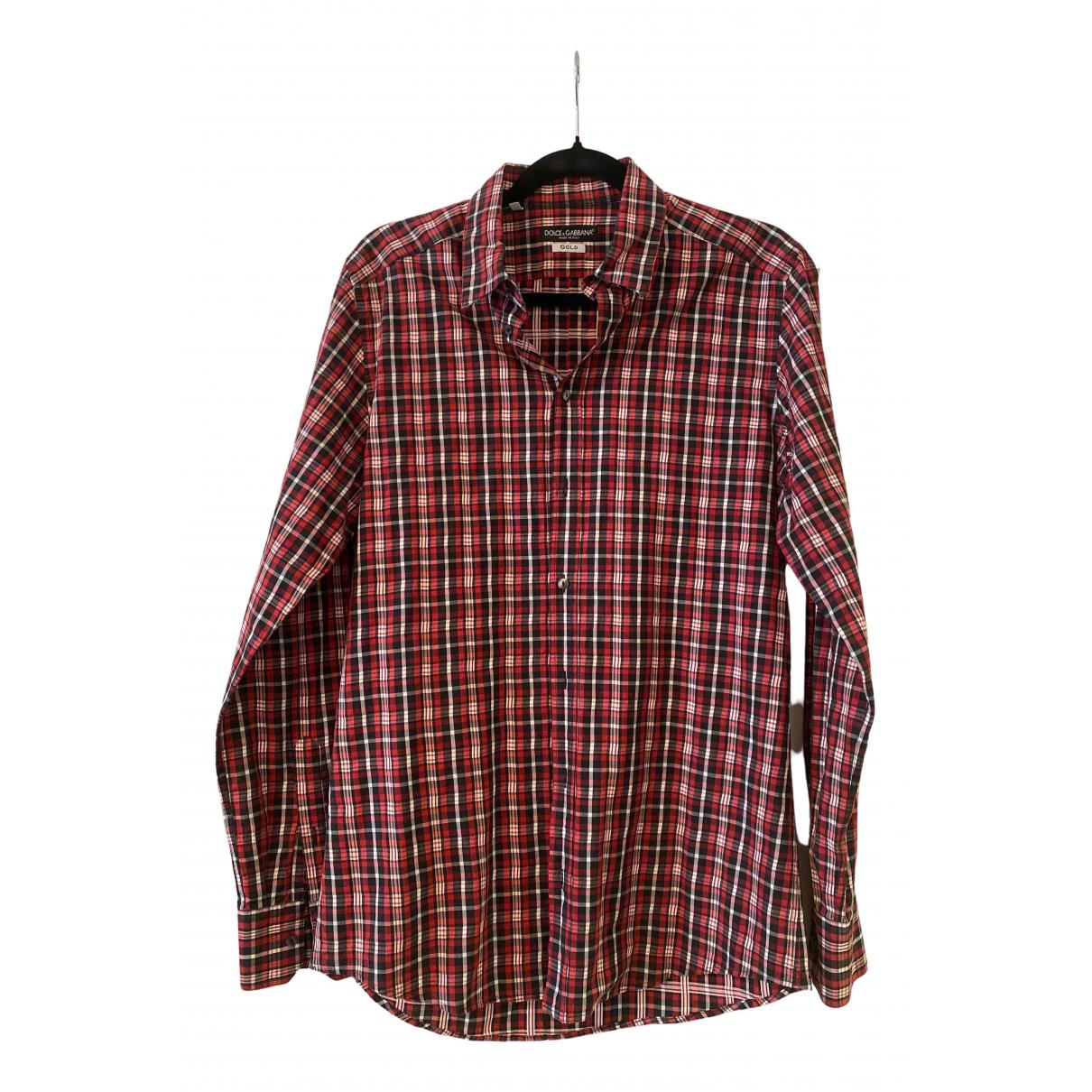 Dolce & Gabbana - Chemises   pour homme en coton - rouge