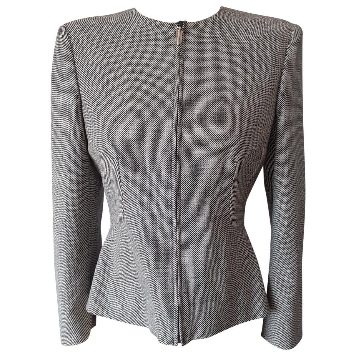 Versace \N Jacke in  Grau Wolle