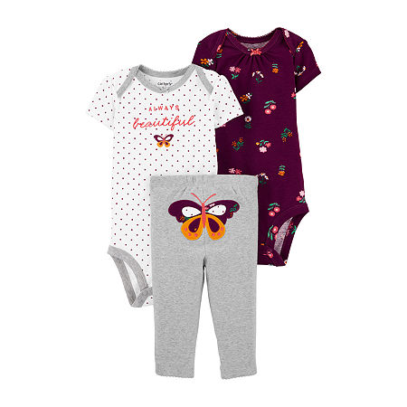Carter's Baby Girls 3-pc. Baby Clothing Set, 18 Months , Gray