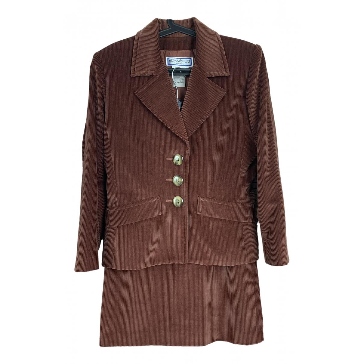 Yves Saint Laurent N Brown Cotton jacket for Women 42 IT