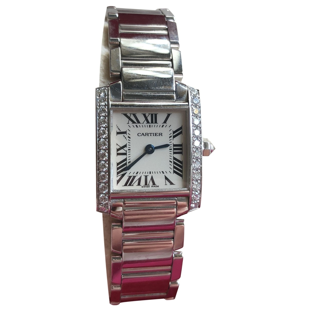 Cartier Tank Francaise Uhr in Weissgold
