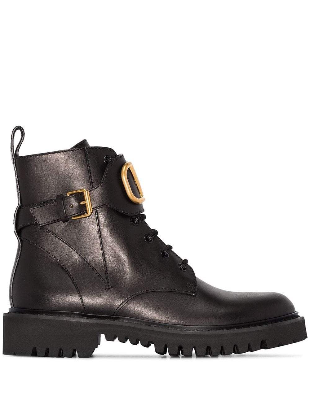 Vlogo Leather Combat Boots