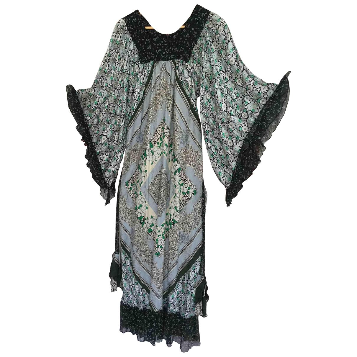 Maxi vestido de Seda Anna Sui