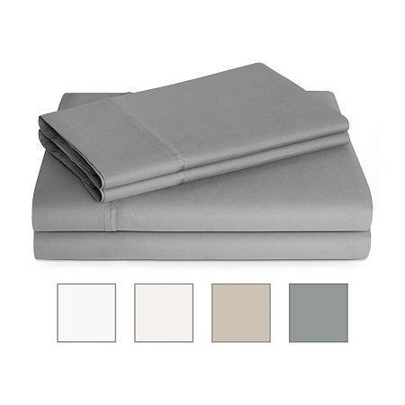 Linenspa 600 Thread Count Ultra Soft Cotton Blend Sheet Set, One Size , Gray