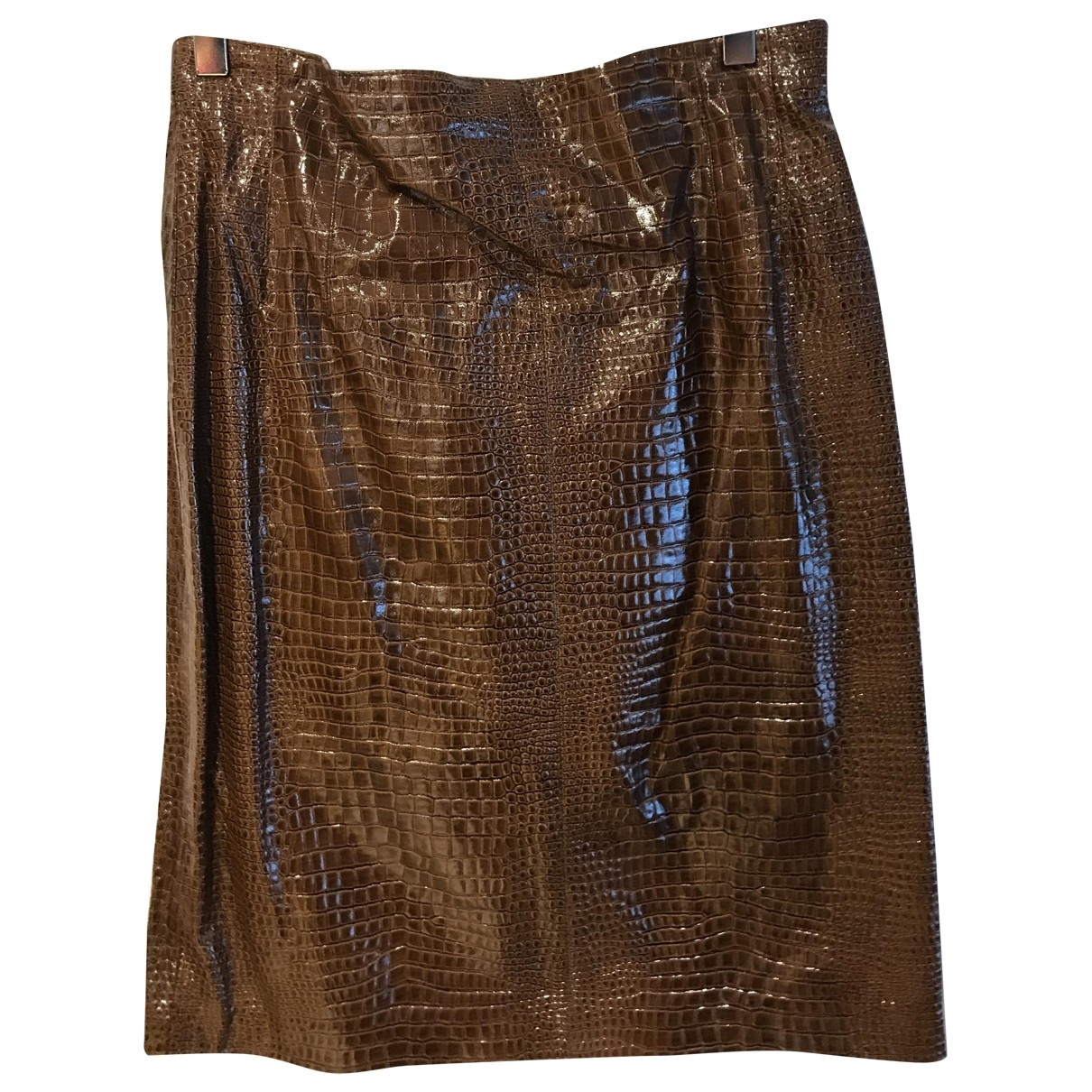 Escada \N Brown Leather skirt for Women 40 FR