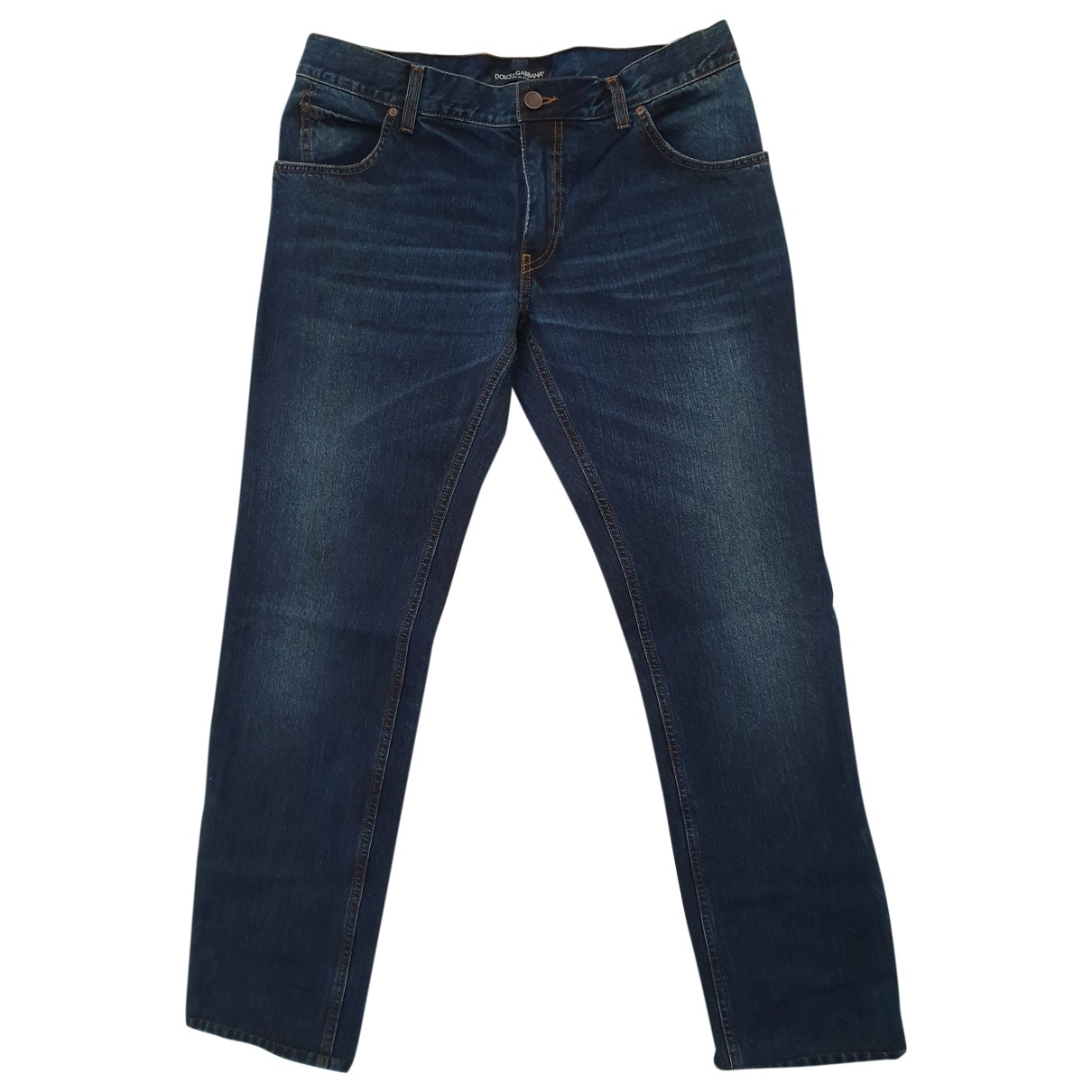 Dolce & Gabbana \N Navy Cotton Jeans for Men 46 FR