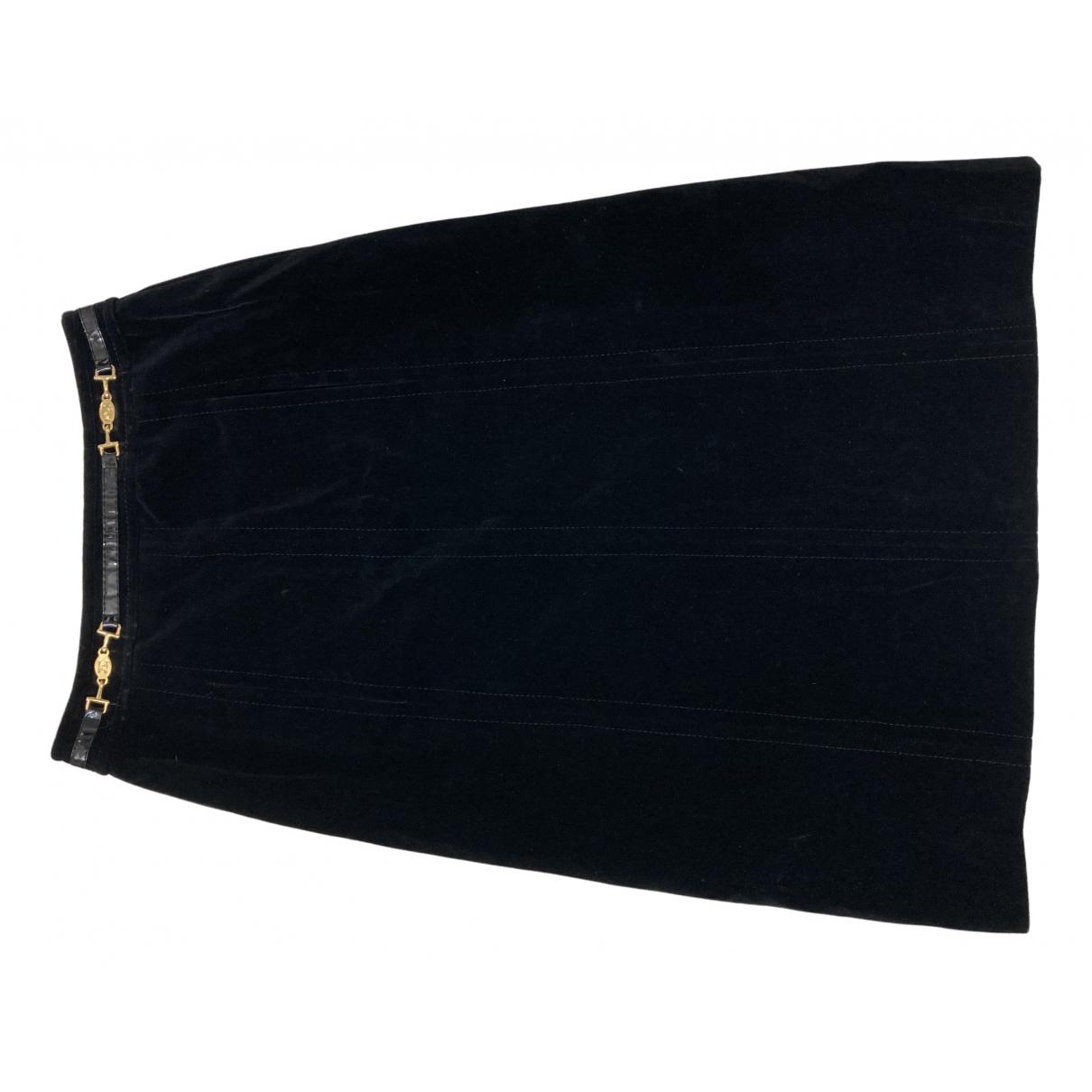 Celine - Jupe   pour femme en velours - noir