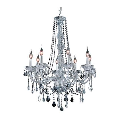 V7858D28C/RC Verona 8 Light Chrome Chandelier Clear Royal Cut
